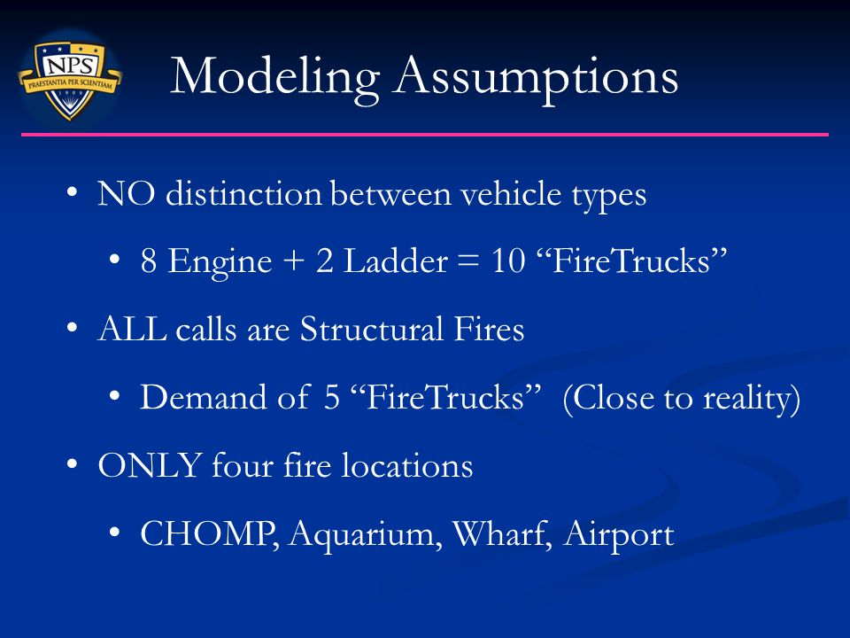 Modeling Assumptions NO distinction between vehicle types