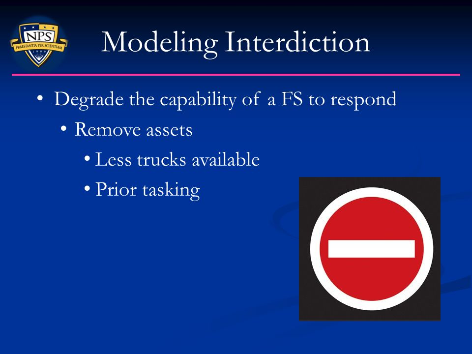 Modeling Interdiction