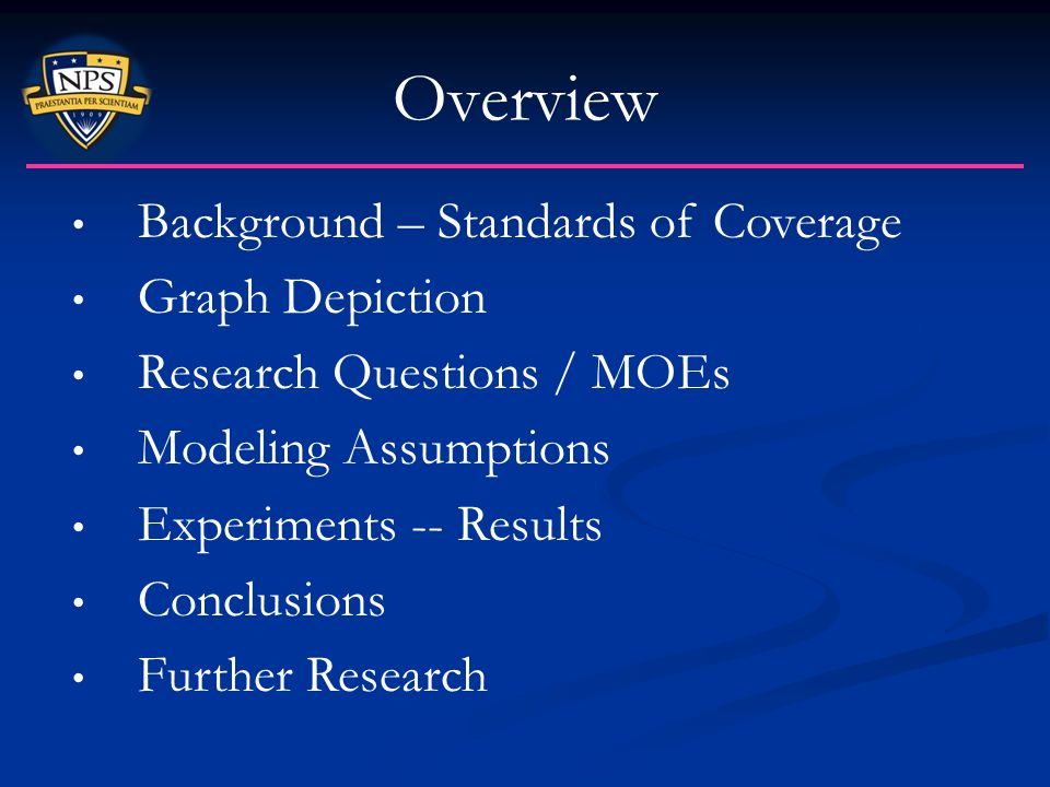Overview Background – Standards of Coverage Graph Depiction