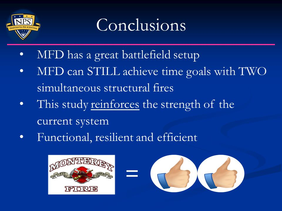 = Conclusions MFD has a great battlefield setup