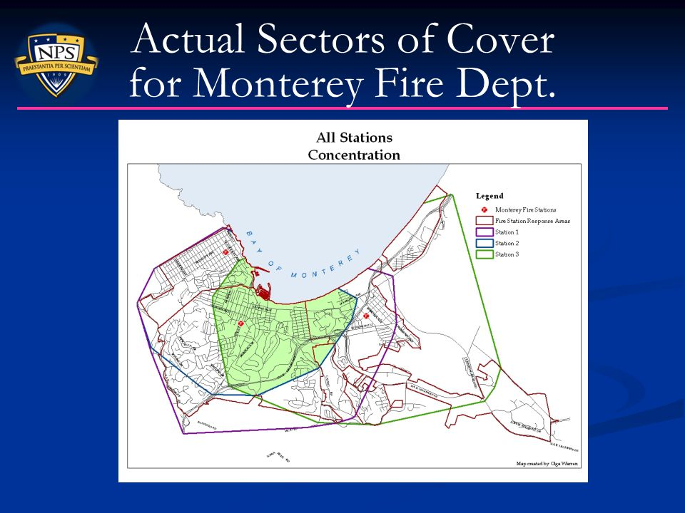 Actual Sectors of Cover for Monterey Fire Dept.