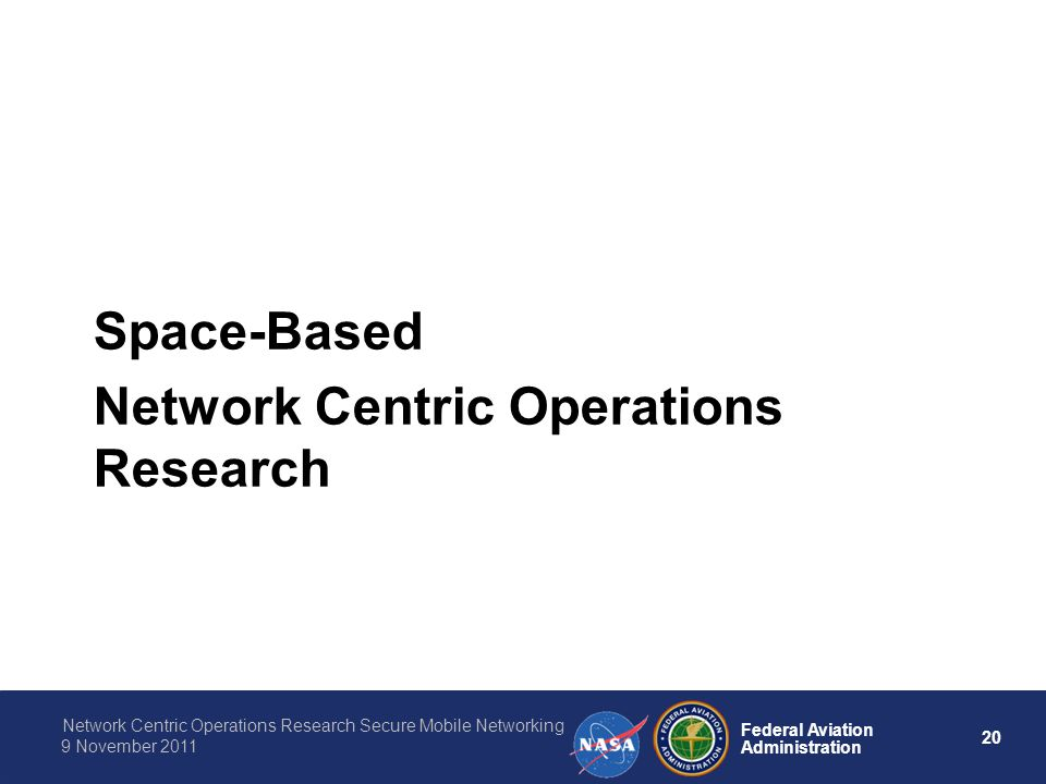 Space-Based Network Centric Operations Research