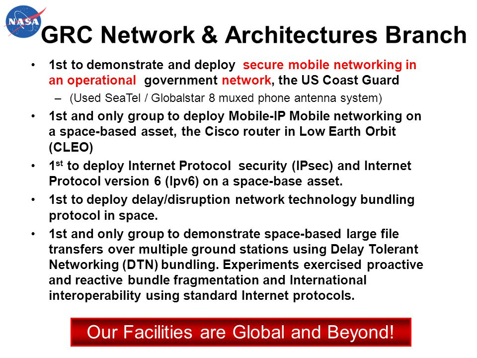 GRC Network & Architectures Branch