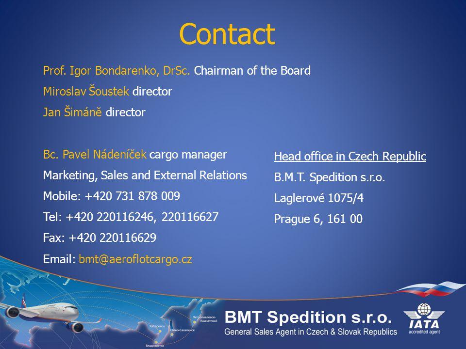 Contact Prof. Igor Bondarenko, DrSc. Chairman of the Board