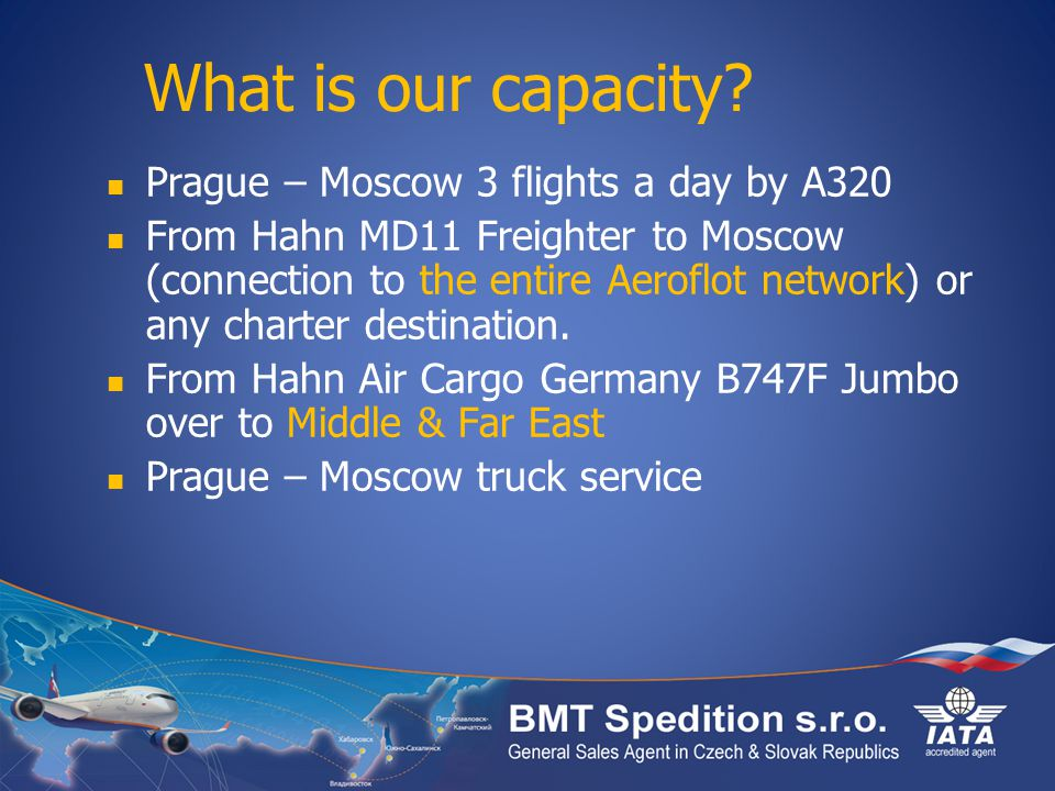 What is our capacity Prague – Moscow 3 flights a day by A320