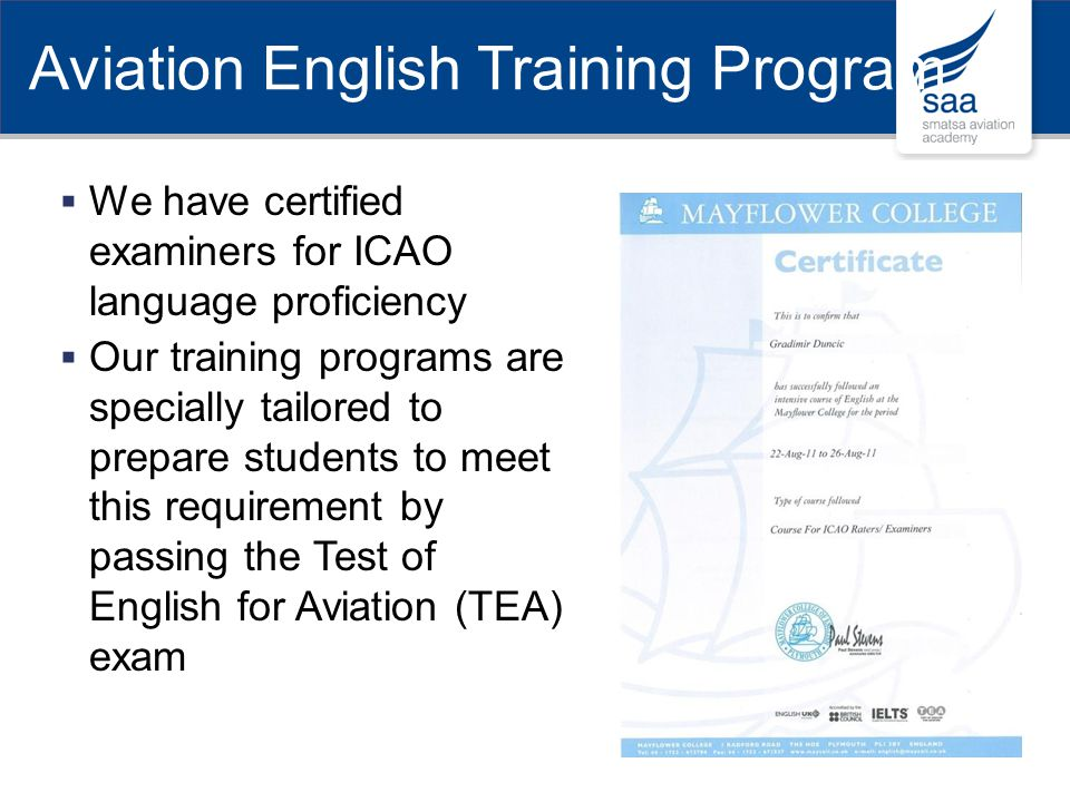 Aviation English Training Program