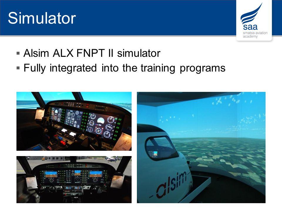 Simulator Alsim ALX FNPT II simulator