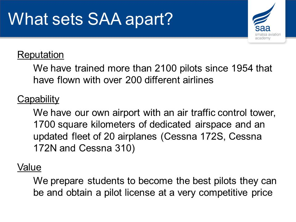 What sets SAA apart