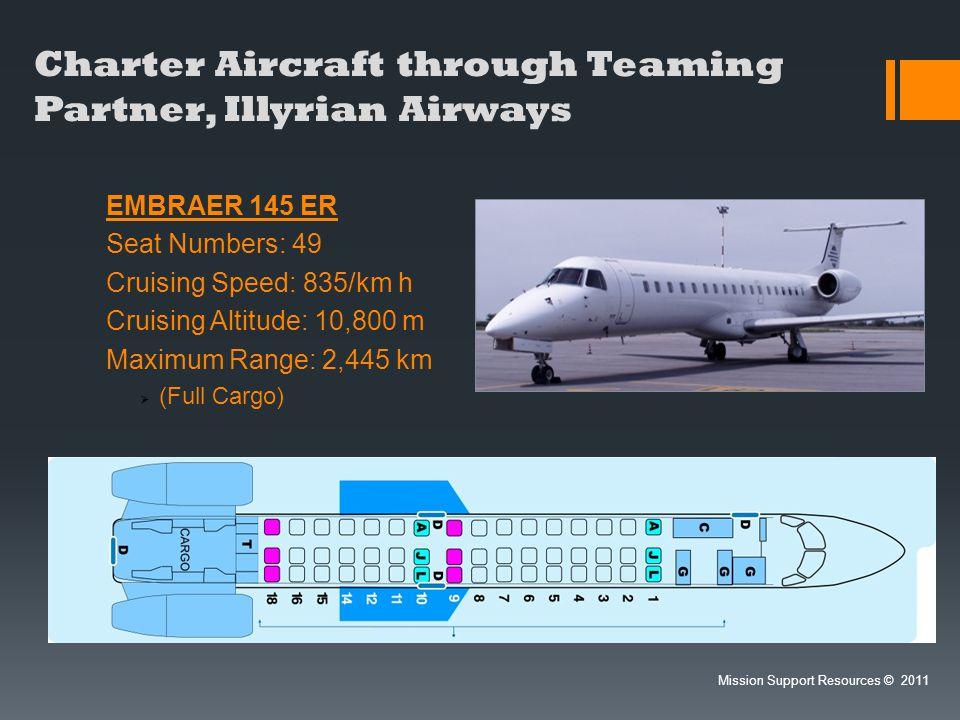 Charter Aircraft through Teaming Partner, Illyrian Airways
