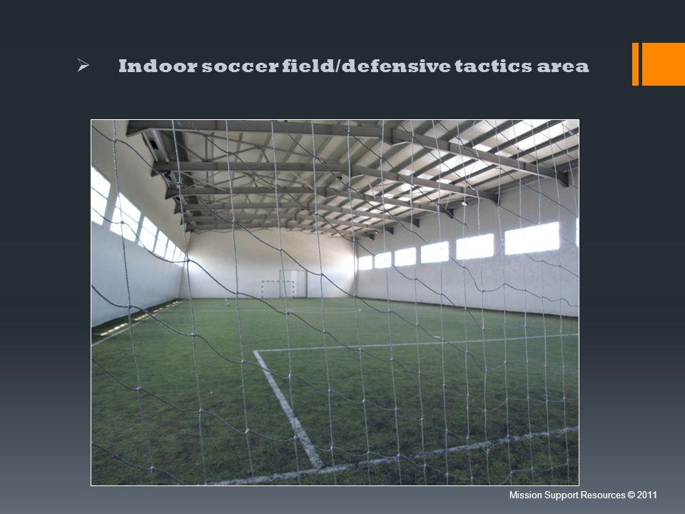 Indoor soccer field/defensive tactics area