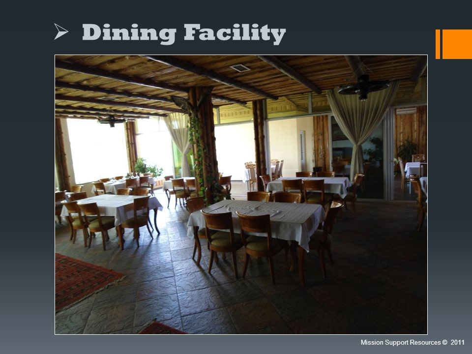 Dining Facility Mission Support Resources 2011