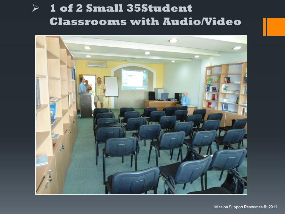 1 of 2 Small 35Student Classrooms with Audio/Video