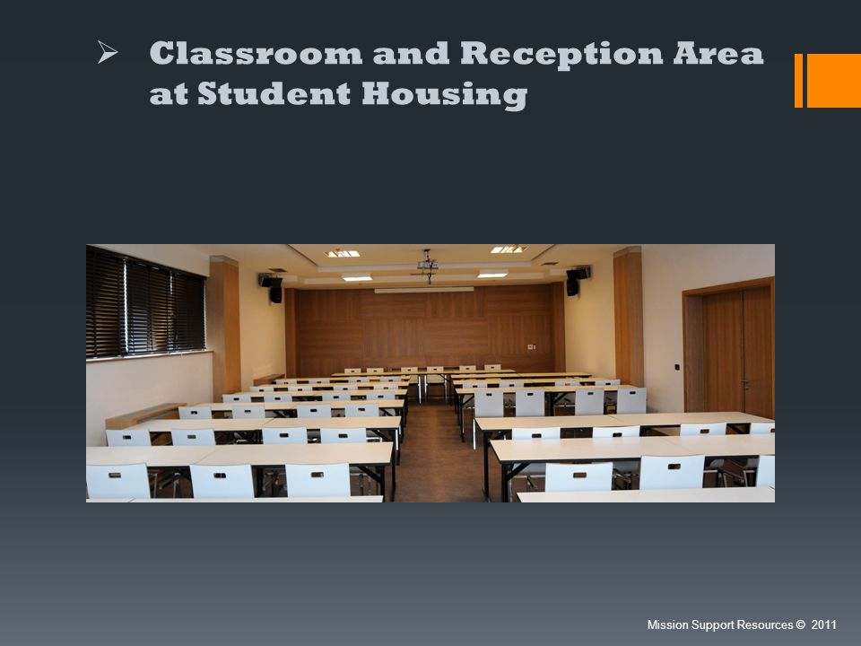Classroom and Reception Area at Student Housing