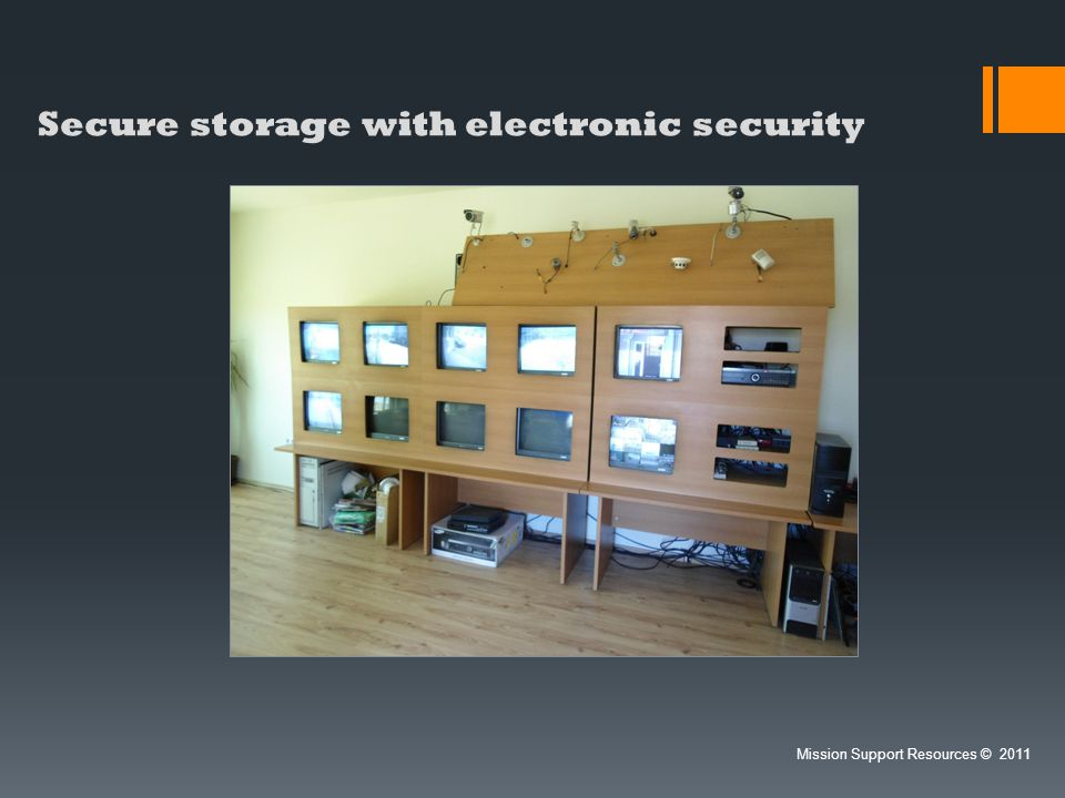 Secure storage with electronic security