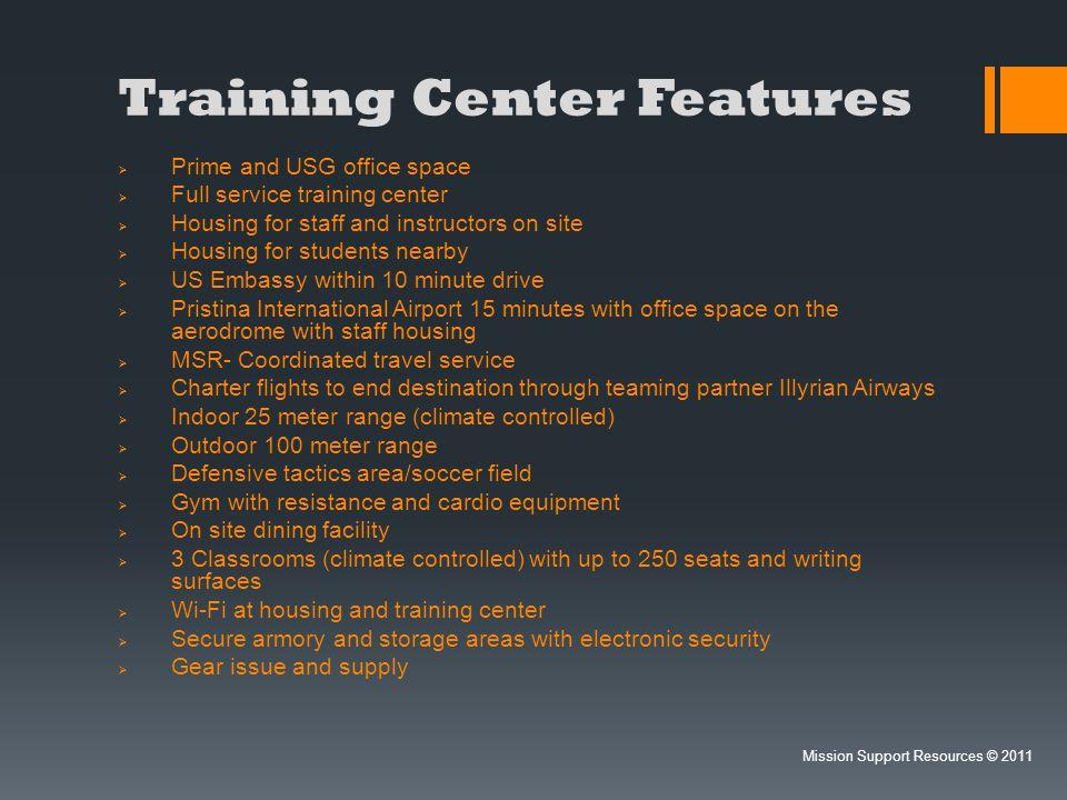 Training Center Features