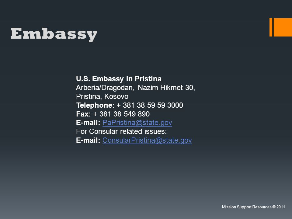 Embassy U.S. Embassy in Pristina