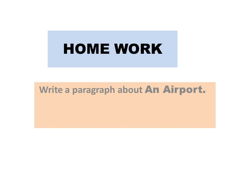 Write a paragraph about An Airport.