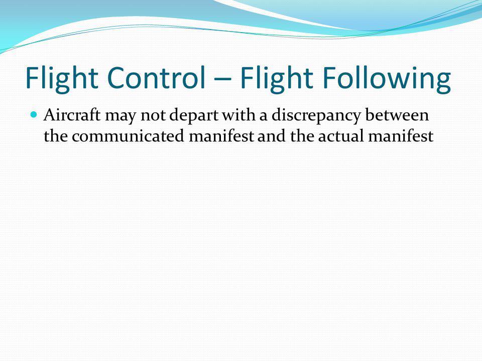 Flight Control – Flight Following