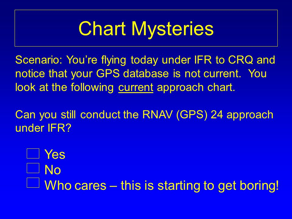 Chart Mysteries No Who cares – this is starting to get boring!