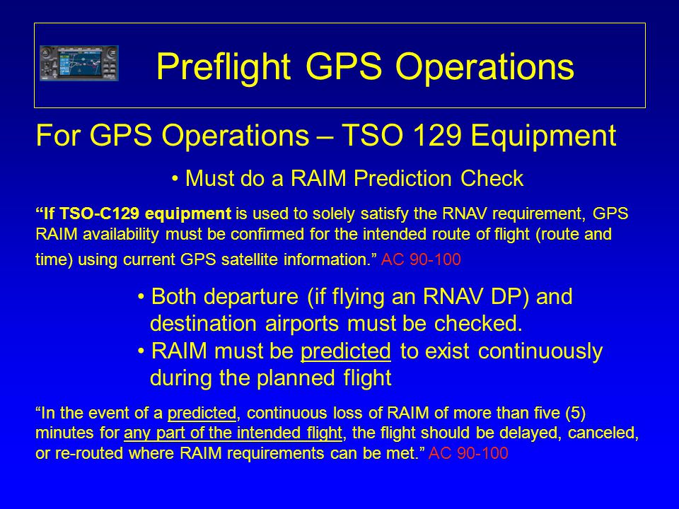 Preflight GPS Operations