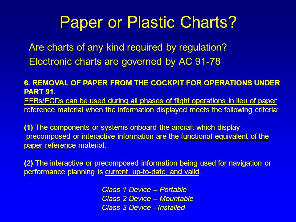 Paper or Plastic Charts