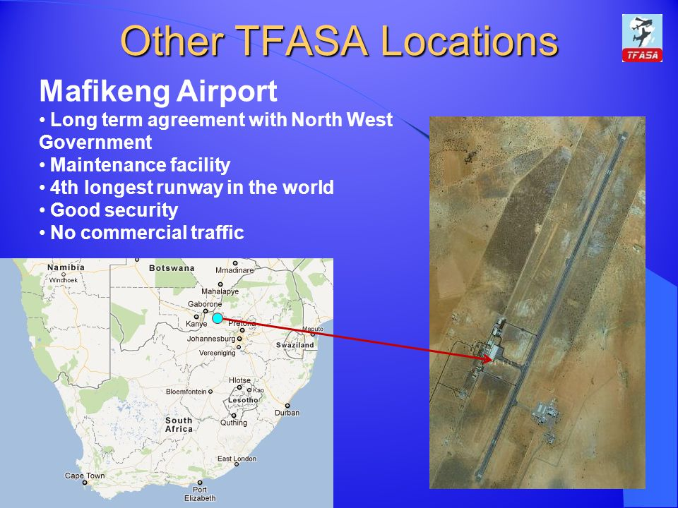 Other TFASA Locations Mafikeng Airport