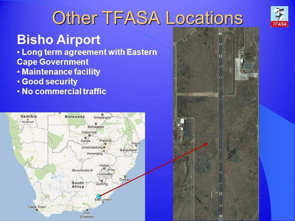 Other TFASA Locations Bisho Airport