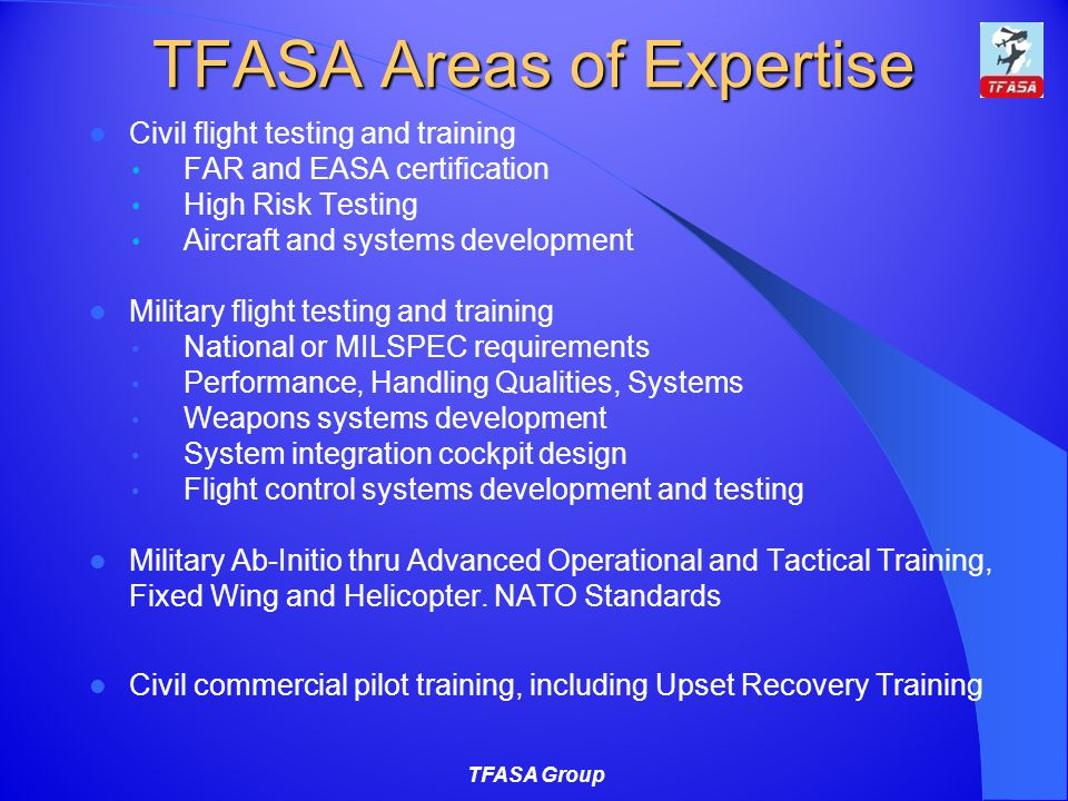 TFASA Areas of Expertise