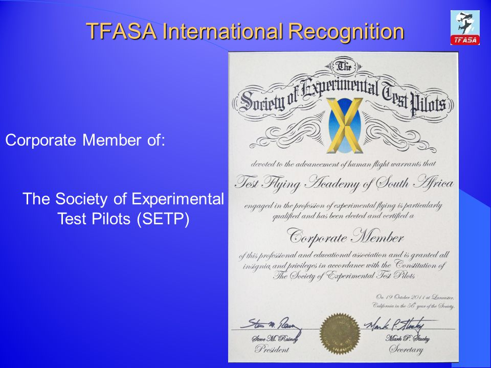 TFASA International Recognition