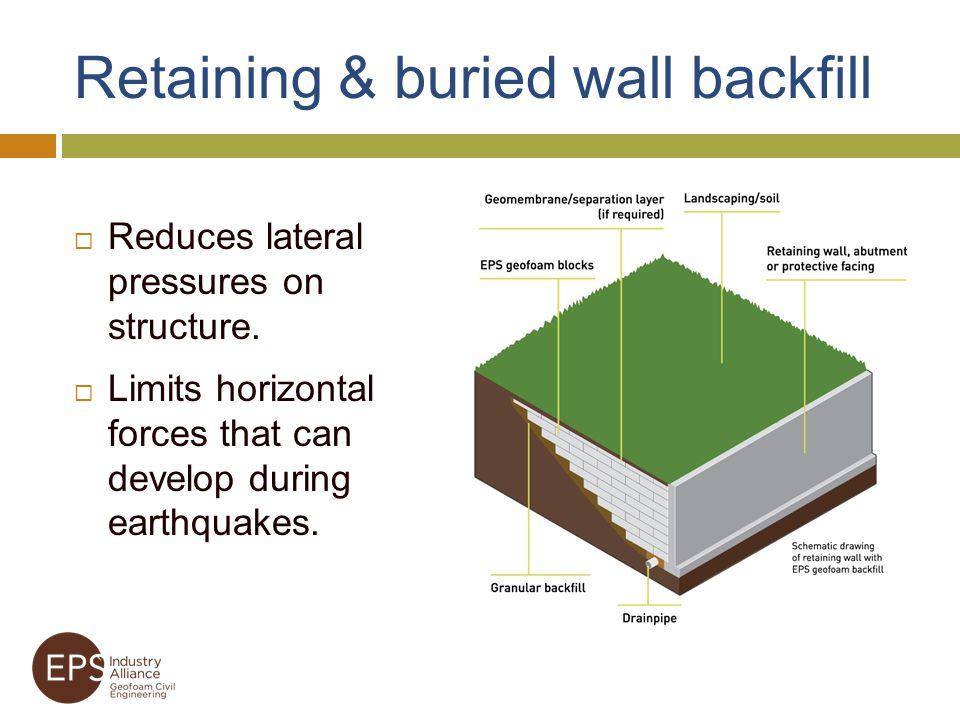 Retaining & buried wall backfill