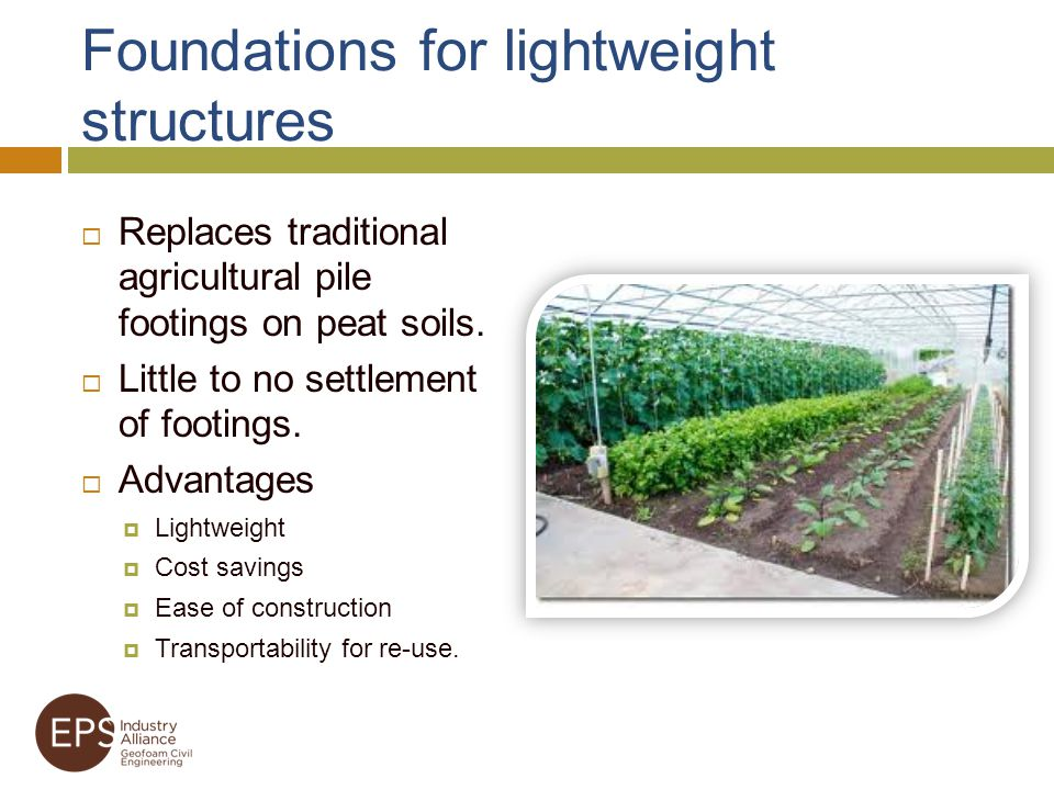 Foundations for lightweight structures