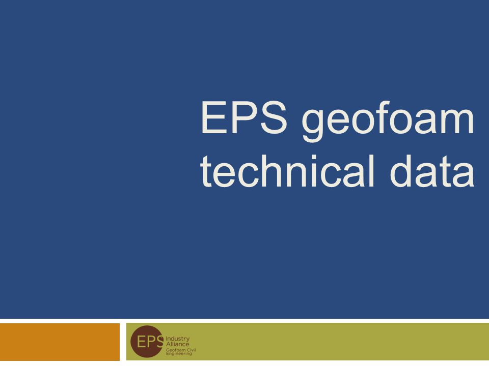 EPS geofoam technical data