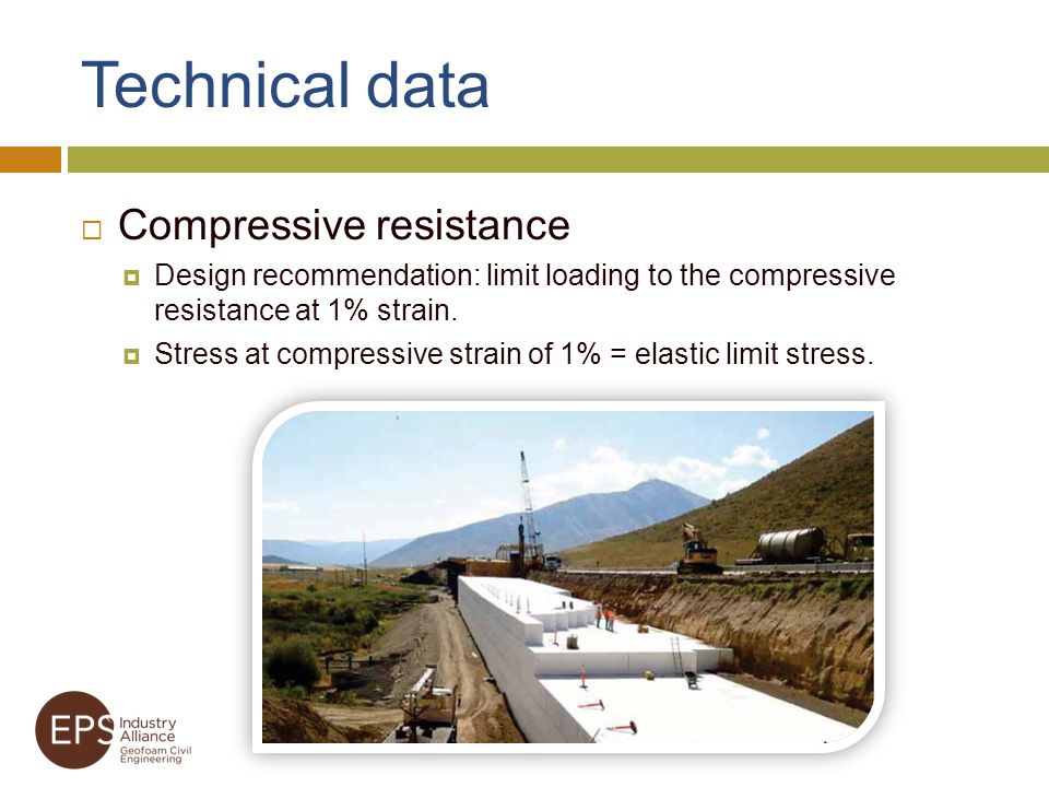 Technical data Compressive resistance