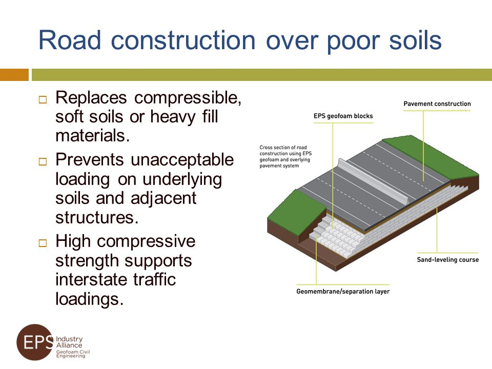 Road construction over poor soils