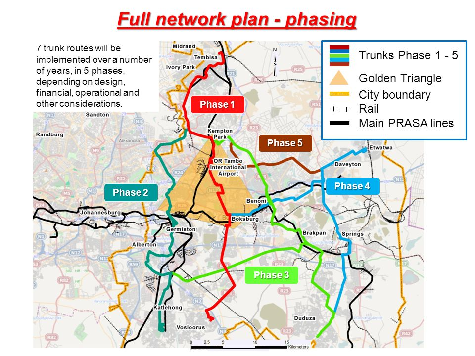 Full network plan - phasing