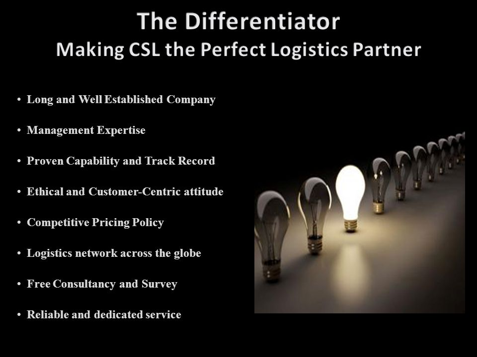 The Differentiator Making CSL the Perfect Logistics Partner