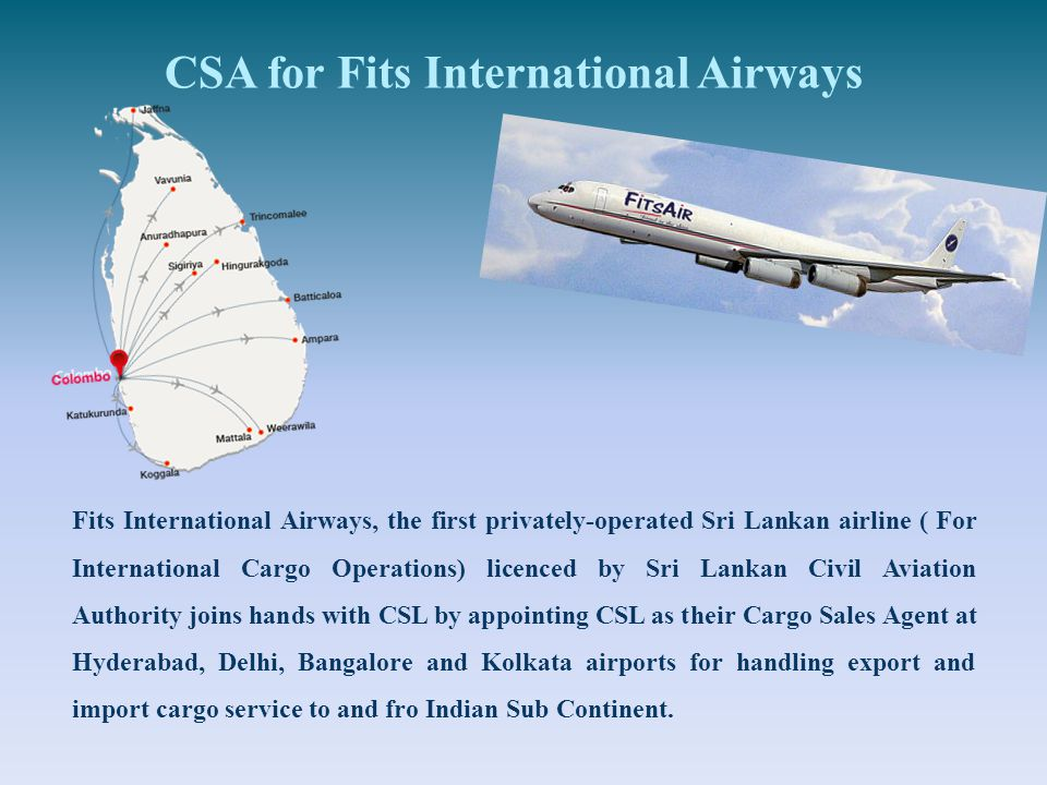 CSA for Fits International Airways