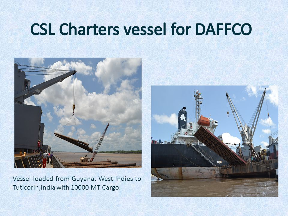 CSL Charters vessel for DAFFCO