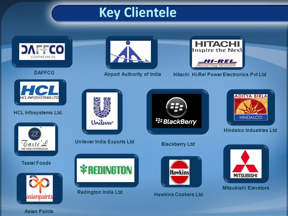 Key Clientele DAFFCO Airport Authority of India