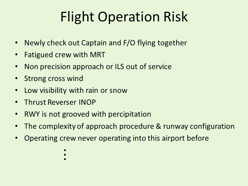 Flight Operation Risk …