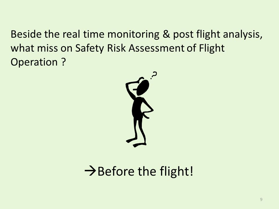 Beside the real time monitoring & post flight analysis, what miss on Safety Risk Assessment of Flight Operation