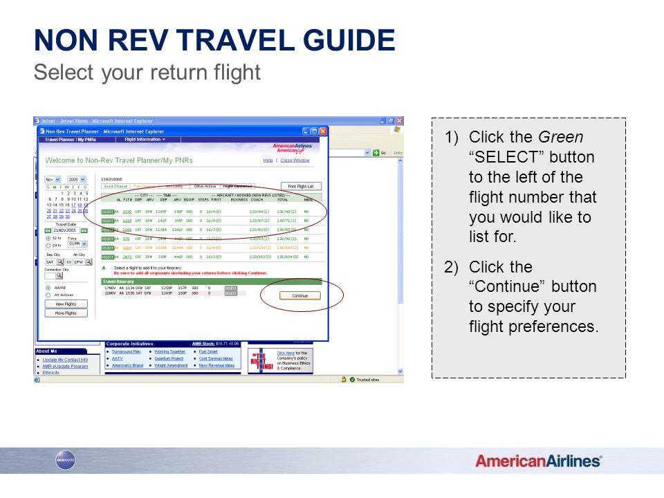 Select your return flight