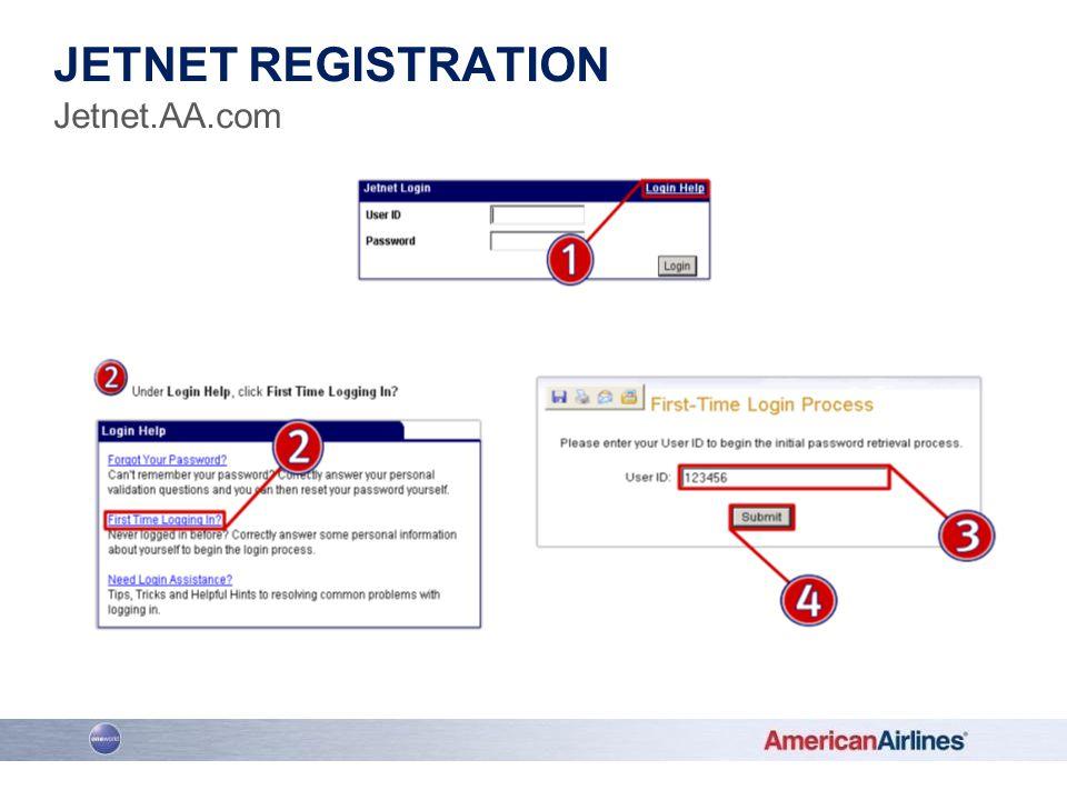Jetnet registration Jetnet.AA.com www.jetnet.aa.com