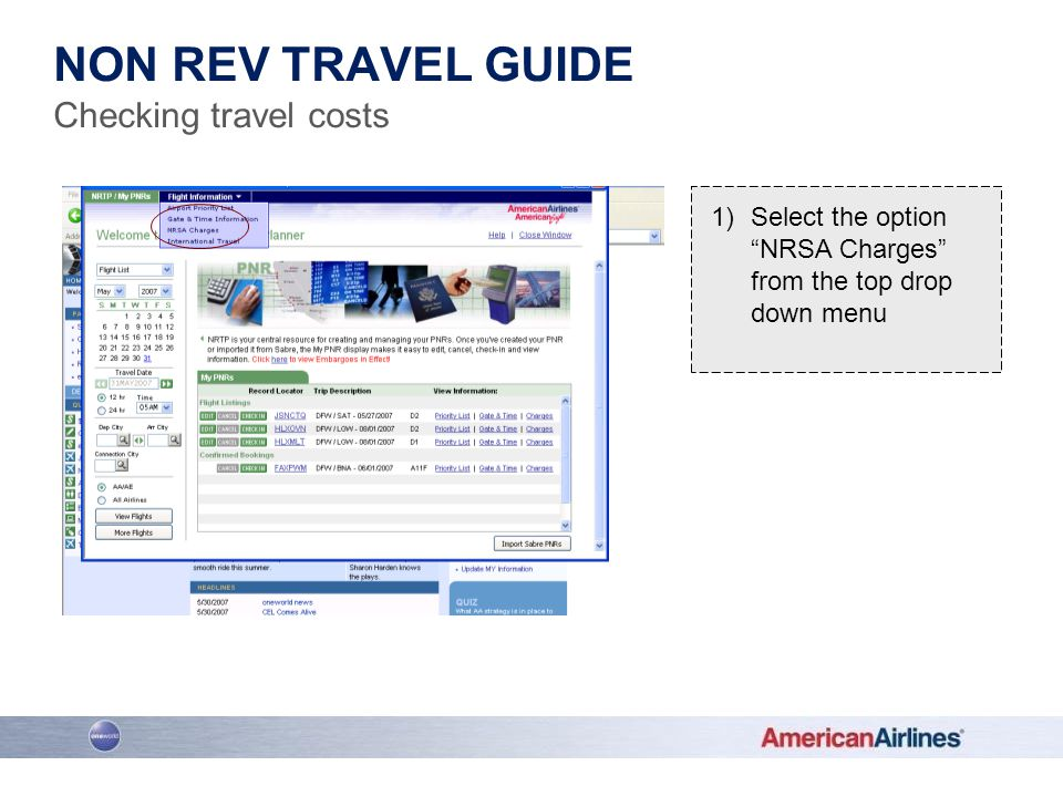 Non rev travel guide Checking travel costs