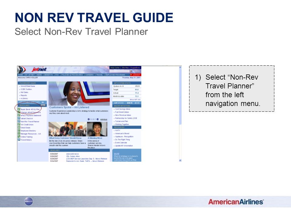 Select Non-Rev Travel Planner