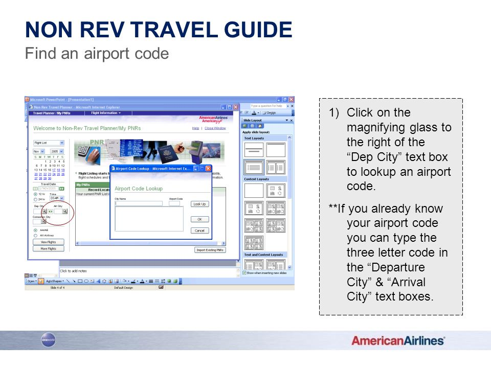 Non rev travel guide Find an airport code