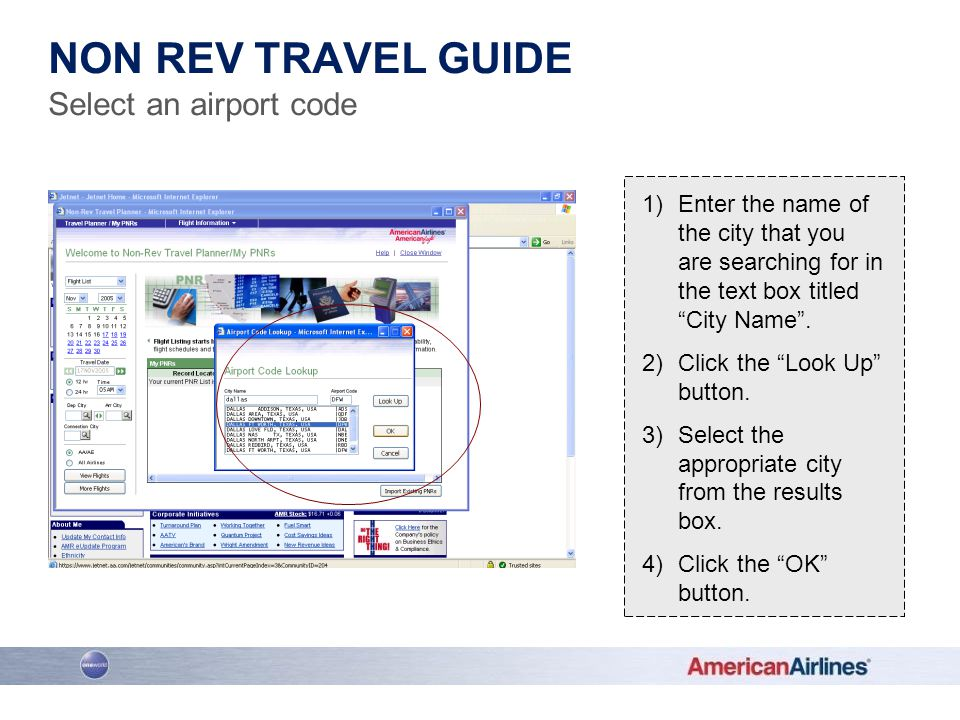 Non Rev Travel Guide Select an airport code