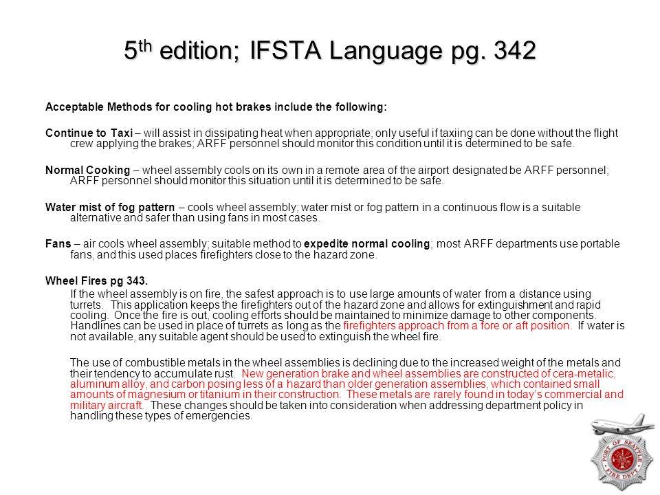 5th edition; IFSTA Language pg. 342