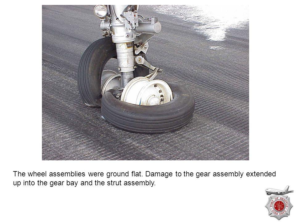The wheel assemblies were ground flat