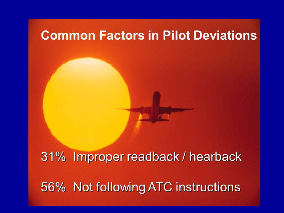 Common Factors in Pilot Deviations